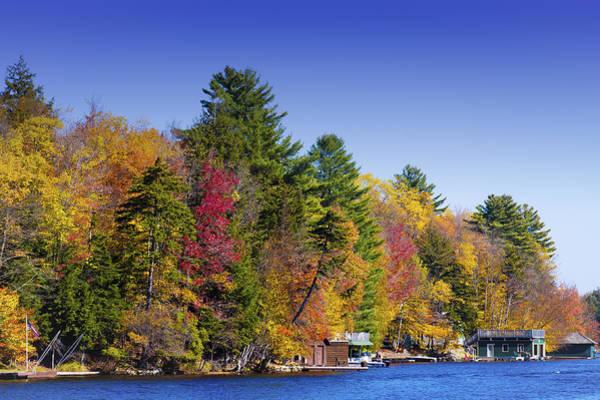 Fulton Chain Of Lakes Photograph - Adirondack Color Ix by David Patterson