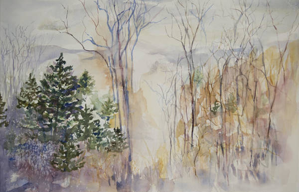 Adirondack Mountains Painting - Adirondack Mountain Top by Claire Hartfield