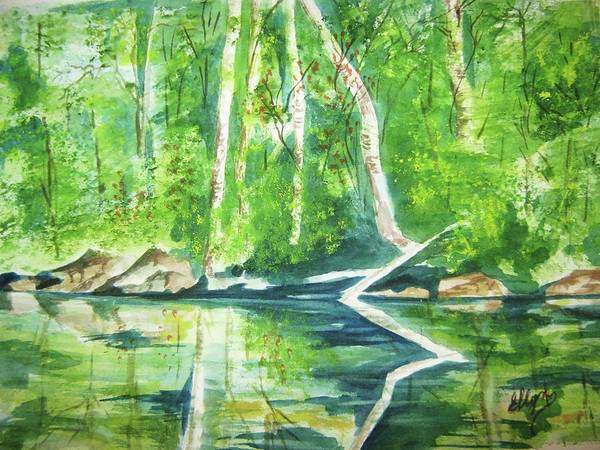 Wall Art - Painting - Adirondack Zen by Ellen Levinson