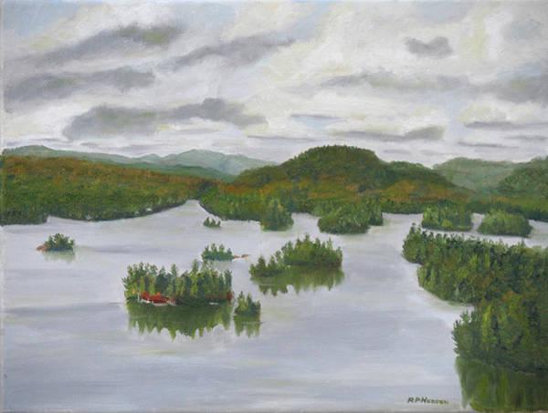 Adirondack Mountains Painting - Adirondacks Blue Mountain Lake by Robert P Hedden