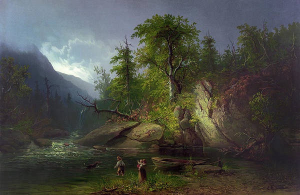 Adirondack Mountains Painting - Adirondacks, C1812 by Granger