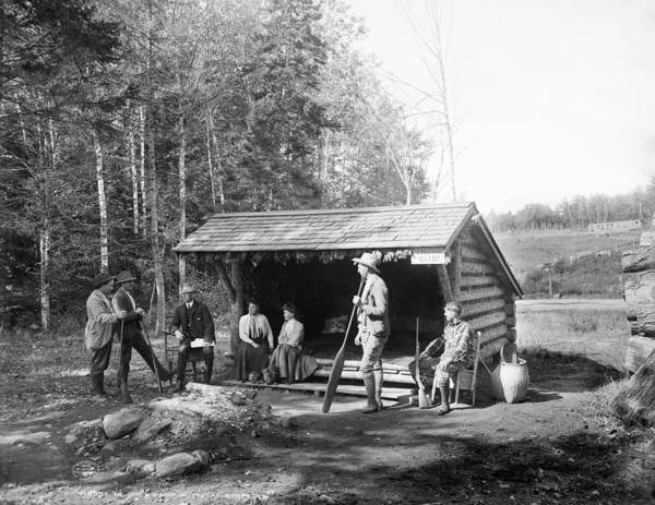 Lean-tos Photograph - Adirondacks Cabin, C1903 by Granger