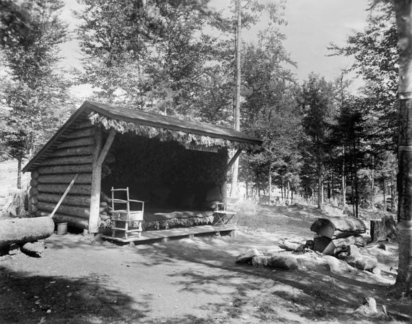 Lean-tos Photograph - Adirondacks Cabin, C1905 by Granger