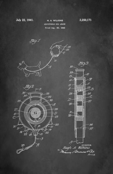 Leash Wall Art - Digital Art - Adjustable Dog Leash Patent 1941 by Patricia Lintner