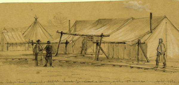 Wall Art - Drawing - Adjutant Generals Office Head Quarters, Army Of The Potomac by Quint Lox