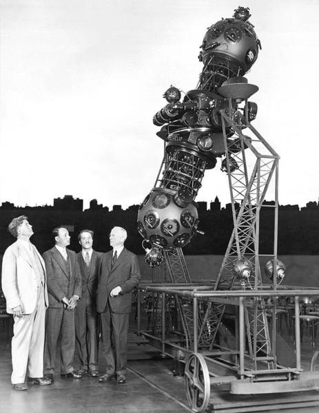 Chicago And North Western Photograph - Adler Planetarium Projector by Underwood Archives