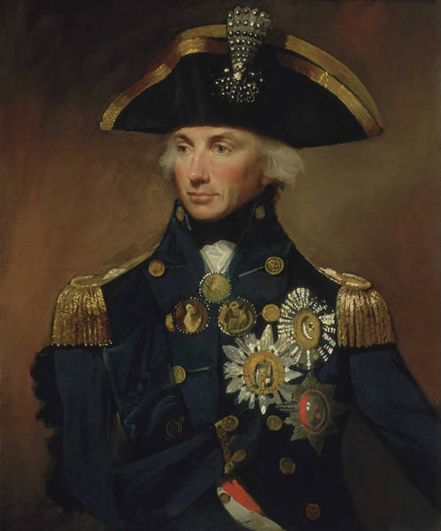 Naval Wall Art - Painting - Admiral Horatio Nelson by War Is Hell Store