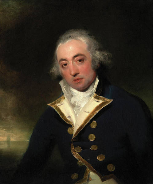 Wall Art - Painting - Admiral John Markham, Sir Thomas Lawrence by Litz Collection