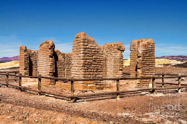 Photograph - Adobe Borax Ruins In Death Valley by Diana Raquel Sainz