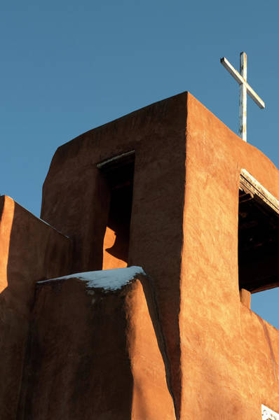 Christianity Photograph - Adobe Construction Of Church, San by Peter Ptschelinzew