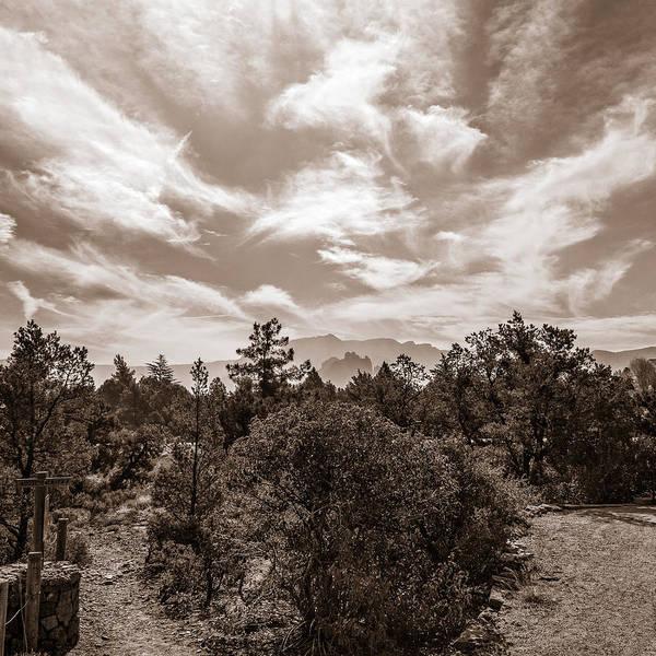 Photograph - Adobe Jack Trail Bw by Chris Bordeleau