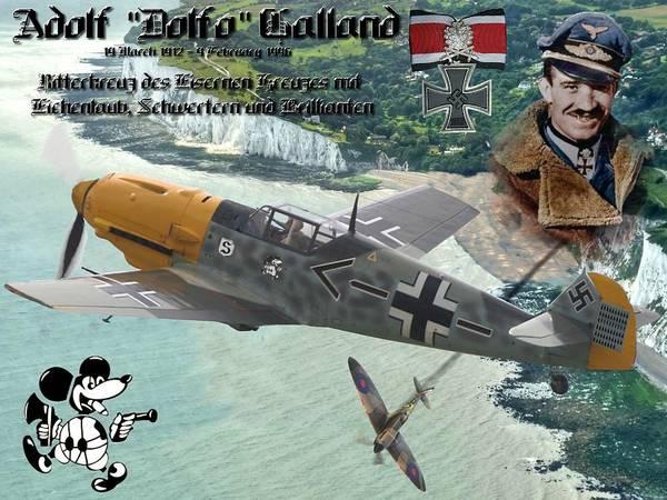 Blitz Digital Art - Adolf Galland Over Dover by Mil Merchant