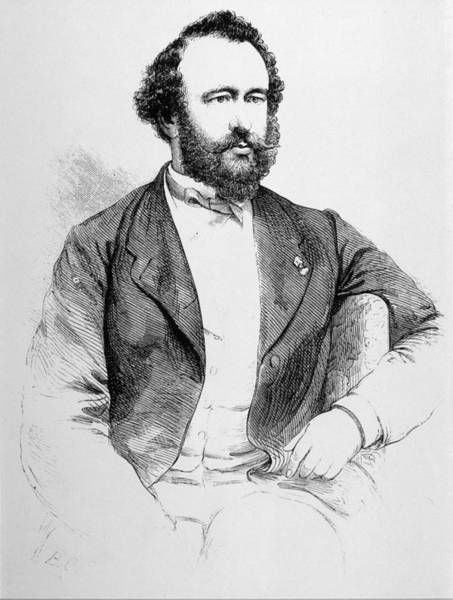 Sax Drawing - Adolphe Sax  French Inventor Of Musical by Mary Evans Picture Library
