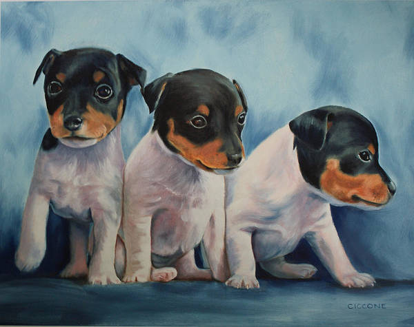 Painting - Adorable In Triplicate by Jill Ciccone Pike