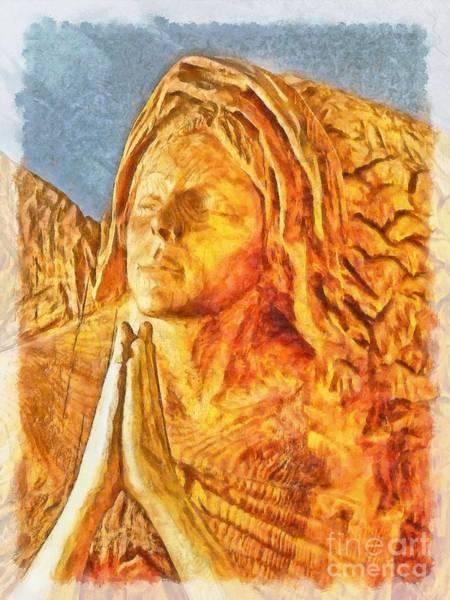 Digital Art - Adoration In Wood 2015 by Kathryn Strick