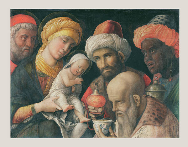 Wall Art - Drawing - Adoration Of The Magi Andrea Mantegna, Italian Paduan by Litz Collection