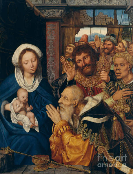 Photograph - Adoration Of The Magi By Quentin Metsys by MMA John Stewart Kennedy Fund