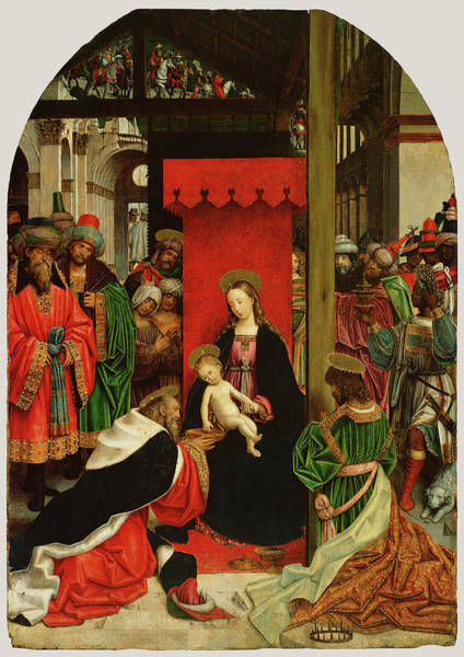 Wall Art - Painting - Adoration Of The Magi Defendente Ferrari by Litz Collection