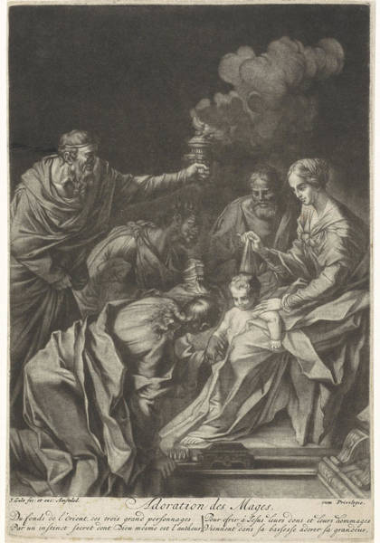 Prepare Drawing - Adoration Of The Magi, Jacob Gole by Jacob Gole