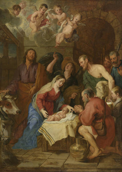 Wall Art - Drawing - Adoration Of The Shepherds, Gaspar De Crayer by Litz Collection
