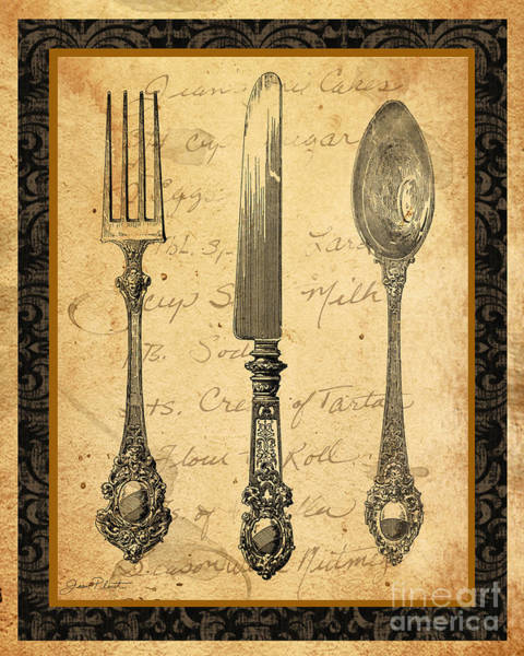 Fork Digital Art - Adriana-a by Jean Plout