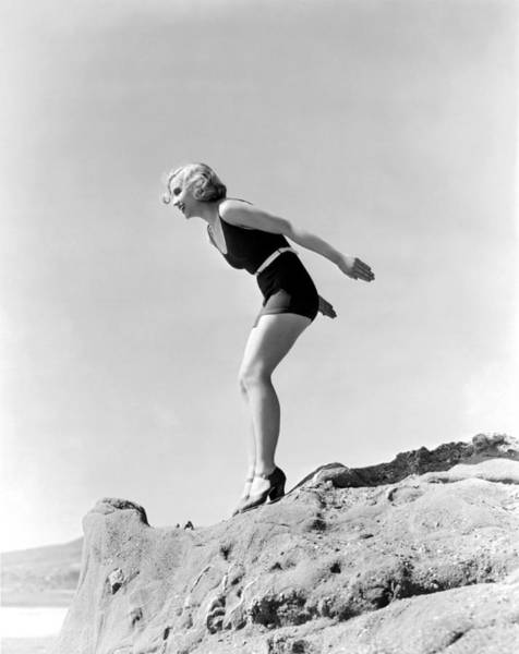 Diving Suit Photograph - Adrienne Dore by Underwood Archives