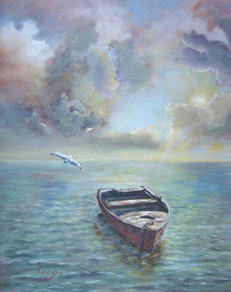 Painting - Adrift by Katalin Luczay