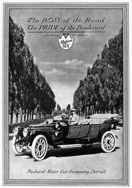 Painting - Ads Packard, C1912 by Granger