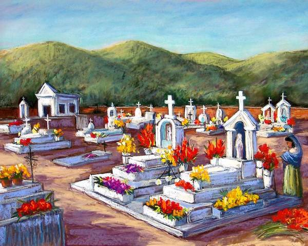 Wall Art - Pastel - Aduana Cemetery by Candy Mayer