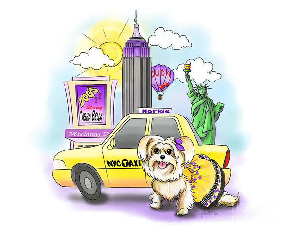 Mixed Media - Adventures With The Manhattan Morkie by Catia Lee