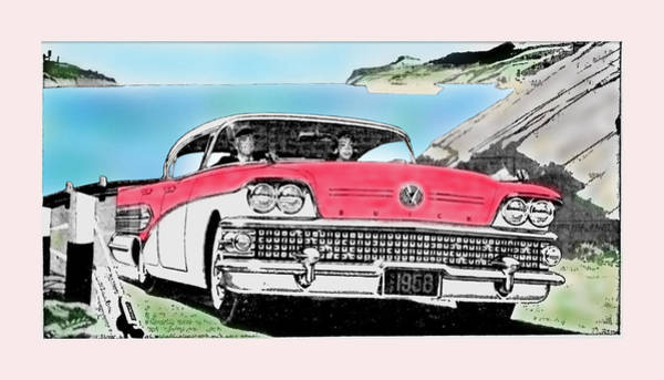 Photograph - Advert - 1958 Buick Roadmaster 75 by Richard Reeve