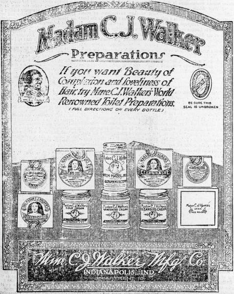 Wall Art - Photograph - Advert For Madam Walker's Products by Library Of Congress/science Photo Library