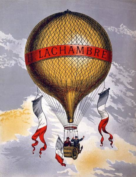 Flight Drawing - Advertisement For Balloons Manufactured by French School