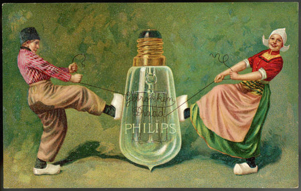 Bulb Drawing - Advertisement For Philips  Lamps - by Mary Evans Picture Library
