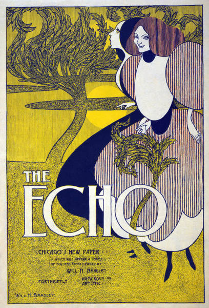 Painting - Advertisement The Echo by Granger