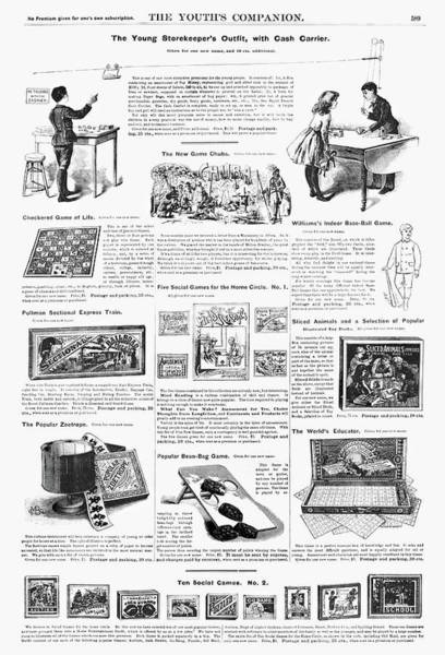 Model Trains Painting - Advertisement Toys, 1890 by Granger