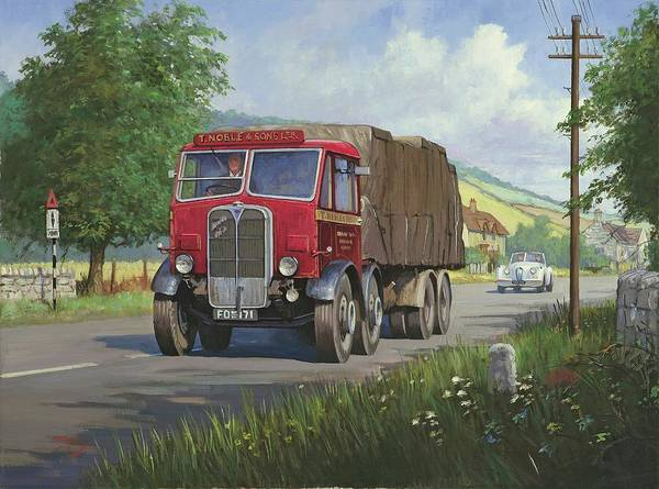 Devon Painting - Aec Mammoth Major In Devon by Mike Jeffries