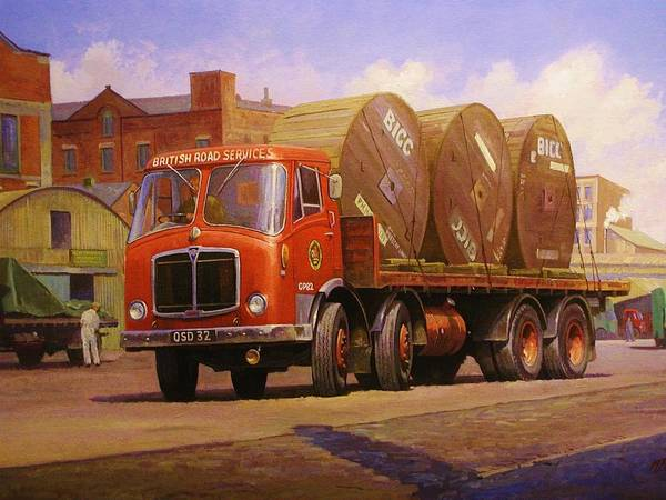 Wall Art - Painting - Aec Mammoth Major Mk V by Mike Jeffries