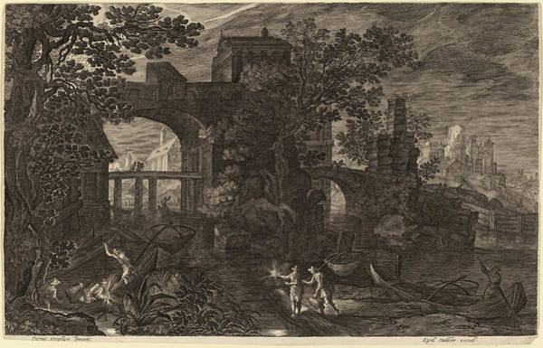 Nocturnal Drawing - Aegidius Sadeler II After Pieter Stevens Flemish by Quint Lox