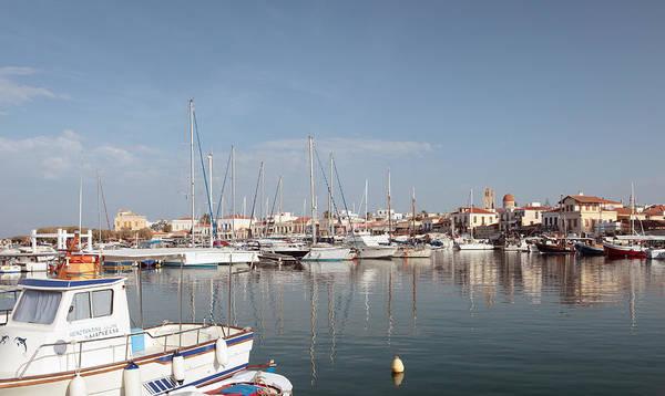 Photograph - Aegina Harbour View by Paul Cowan
