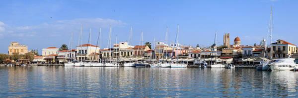 Taverna Photograph - Aegina Town Harbour  by Paul Cowan