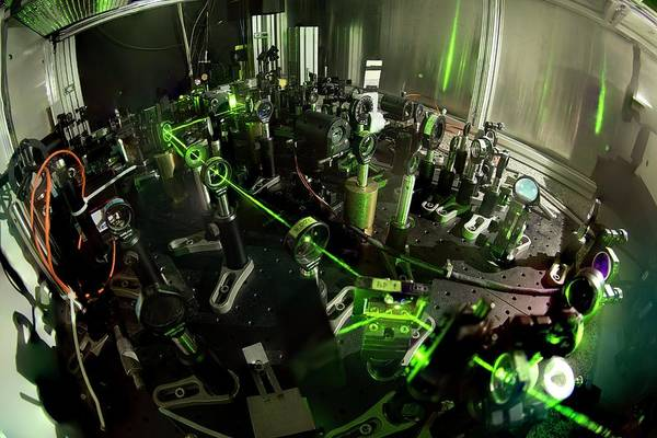 Laser Photograph - Aegis Experiment At Cern by Cern/science Photo Library