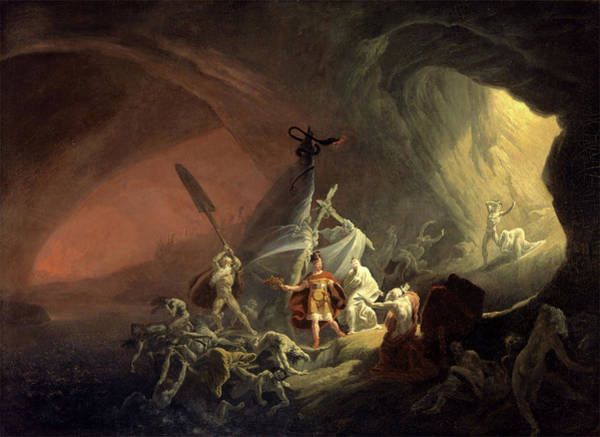 Initiation Painting - Aeneas And The Sibyl, Unknown Artist, 19th Century by Litz Collection