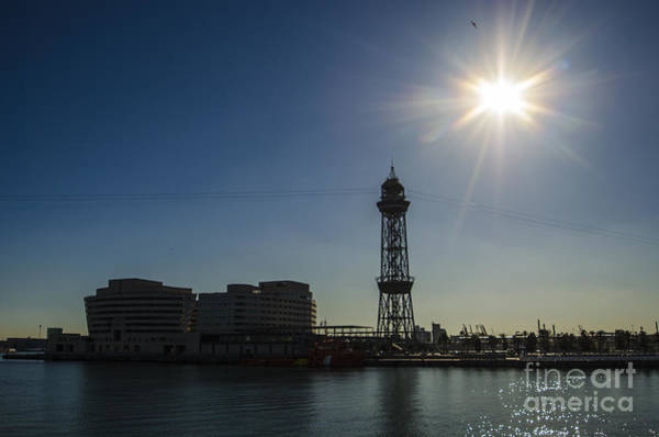 Aerial Tramway Wall Art - Photograph - Aeri Del Port Vell Tower by Deborah Smolinske