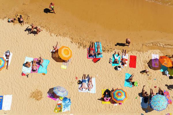 Beach Holiday Photograph - Aerial, Albufeira Beach, Algarve by John Harper