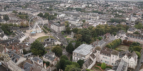 Wall Art - Photograph - Aerial Chartres by Olivier Le Queinec