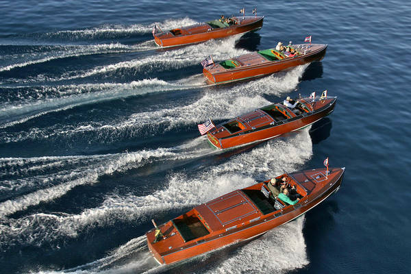 Photograph - Iconic Wooden Speedboats by Steven Lapkin
