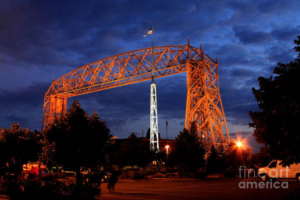 Wall Art - Photograph - Aerial Lift Bridge by Lori Tordsen