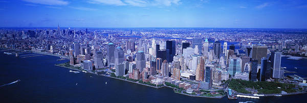 Rise Above Wall Art - Photograph - Aerial, Lower Manhattan, Nyc, New York by Panoramic Images
