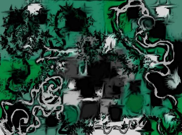 Digital Art - Aerial Map Abstract In Green by Barbara St Jean